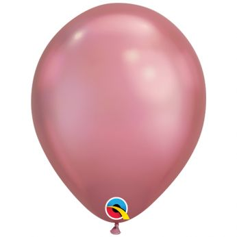 100 stuks 11 inch Chrome Mauve Qualatex Ballon