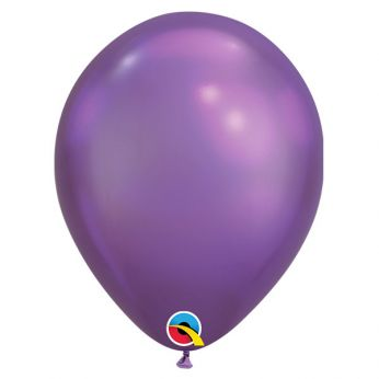 10 stuks 7 inch Chrome Purple Qualatex Ballonnen