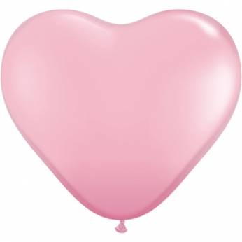 1 X 3FT (90 cm) Pink Hartjes Qualatex Ballon