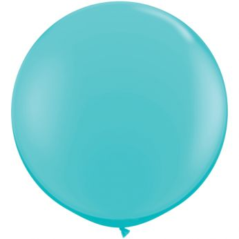 1 x 3ft (90 cm) Caribbean Blue Qualatex Ballon