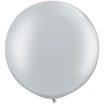 1 x 3ft (90 cm) Silver Qualatex Ballon