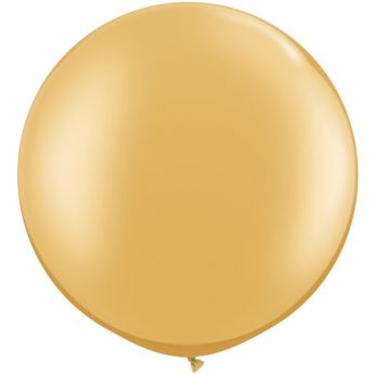 1 x 3ft (90 cm) Gold Qualatex Ballon