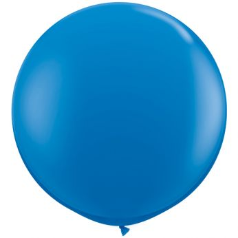 1 x 3ft (90 cm) Dark Blue Qualatex Ballon
