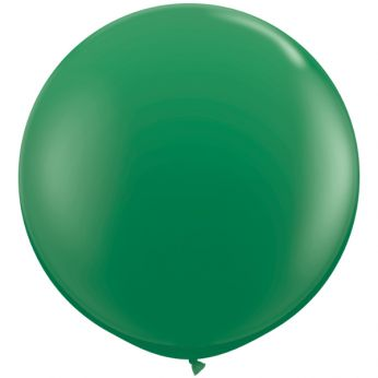 1 x 3ft (90 cm) Green Qualatex Ballon