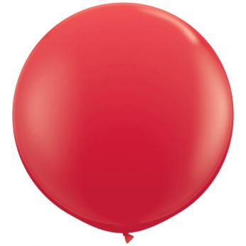 1 x 3ft (90 cm) Red Qualatex Ballon