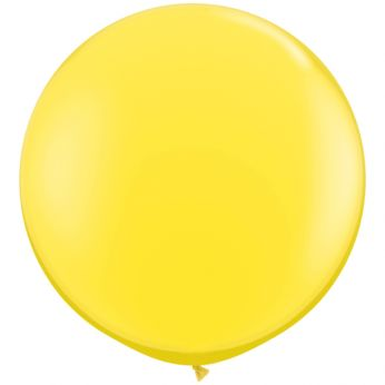 1 x 3ft (90 cm) Yellow Qualatex Ballon