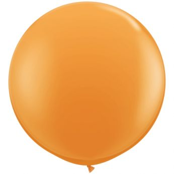1 x 3ft (90 cm) Orange Qualatex Ballon