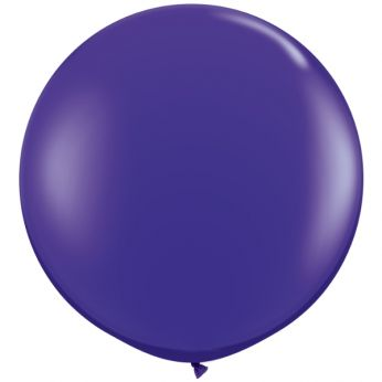 1 x 3ft (90 cm) Quartz Purple Qualatex Ballon
