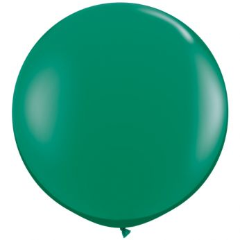 1 x 3ft (90 cm) Emerald Green Qualatex Ballon