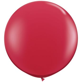 1 x 3ft (90 cm) Ruby Red Qualatex Ballon