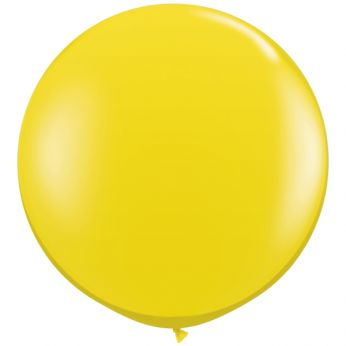 1 x 3ft (90 cm) Citrine Yellow Qualatex Ballon