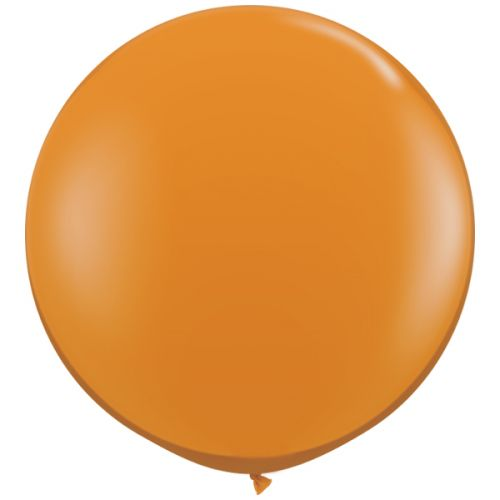 1 x 3ft (90 cm) Mandarin Orange Qualatex Ballon