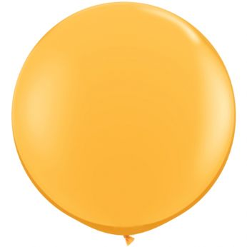 1 x 3ft (90 cm) Goldenrod Qualatex Ballon