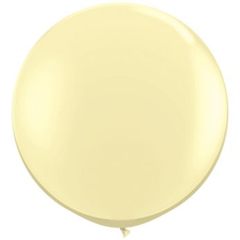 1 x 3ft (90 cm) Ivory Silk Qualatex Ballon