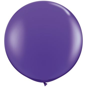 1 x 3ft (90 cm) Purple Violet Qualatex Ballon