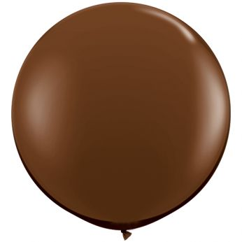 1 x 3ft (90 cm) Chocolate Brown Qualatex Ballon