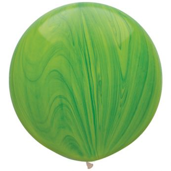 1 x 3ft (90 cm) Marmer Green Qualatex Ballon