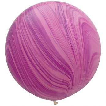 1 x 3ft (90 cm) Marmer Pink & Violet Rainbow Qualatex Ballon