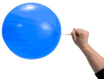 1 X Punch Blue Globos Ballon