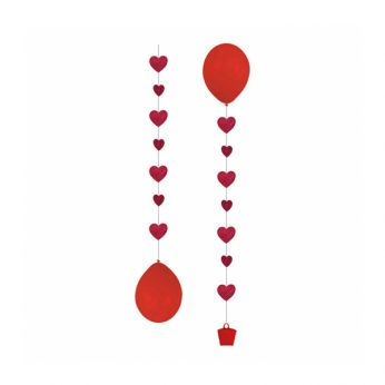 Balloon Tail Hearts 3 Stuks