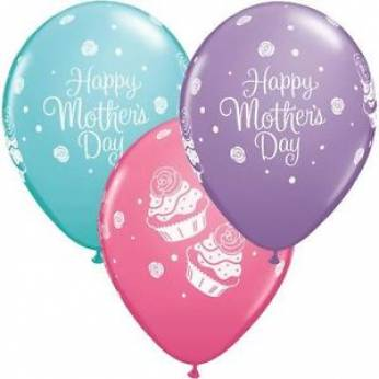 Qualatex Ballon Mother's Day Cupcakes Q11 per 6 Stuks
