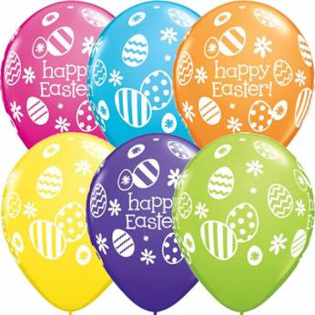 Qualatex Ballon Easter Eggs & Daisies  Q11 per 6 Stuks