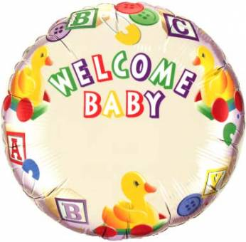 Gepersonaliseerde Folieballon Welcome Baby