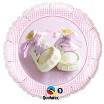 Folieballon Baby Girl Shoes