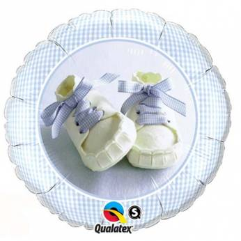 Folieballon Baby Boy Shoes