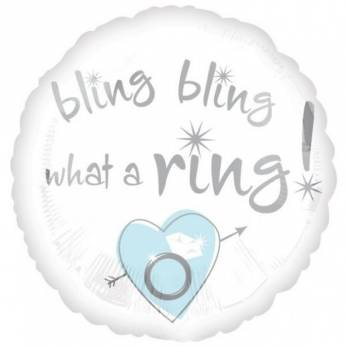 Folieballon Bling Bling what a ring