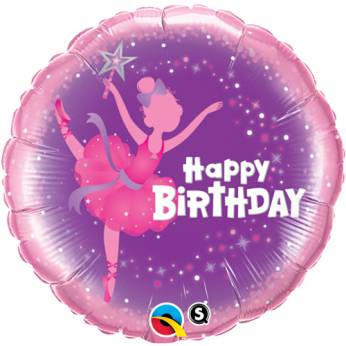 Folieballon Ballerina Happy Birthday
