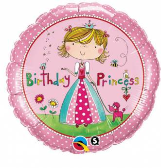 Folieballon Birthday Princess