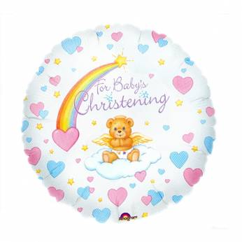 Folieballon met de Tekst: For baby's Christening