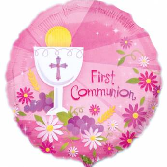 Folieballon met de Tekst: First Communion