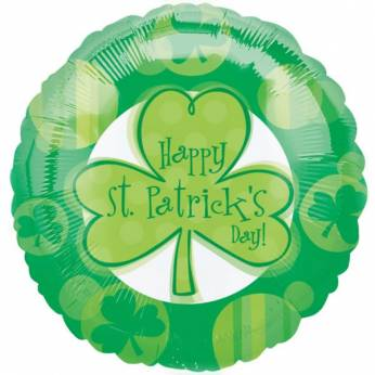 Folieballon met de Tekst:  Happy St. Patricks' Day