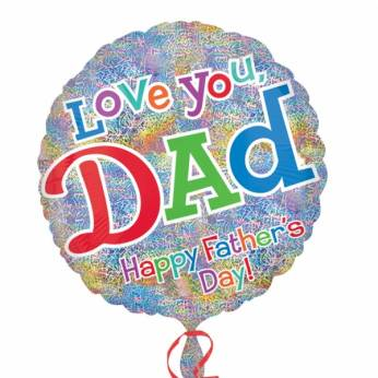 Folieballon Vaderdag Love you Dad