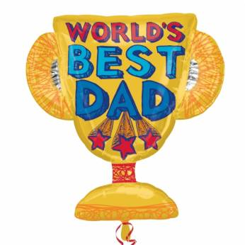 Folieballon Vaderdag World's Best Dad