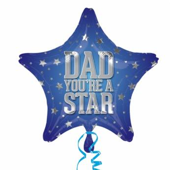Folieballon Vaderdag Dad you're a Star