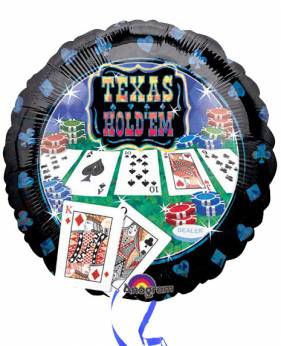Folieballon Texas Hold'em