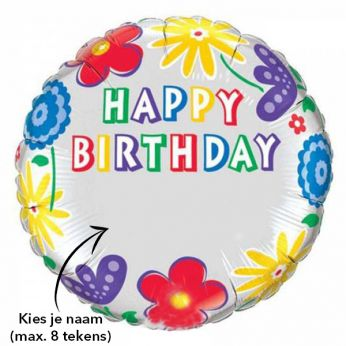 Happy Birthday Helium Ballon met naam
