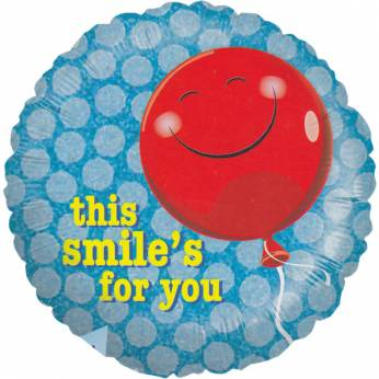 Folieballon Smiley met de tekst: This Smile's for You