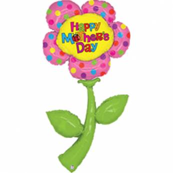 Folieballon Flower Moederdag Happy Mother's Day