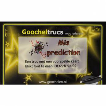 Goocheltruc Mis prediction