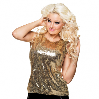 pailletten top goud - one size