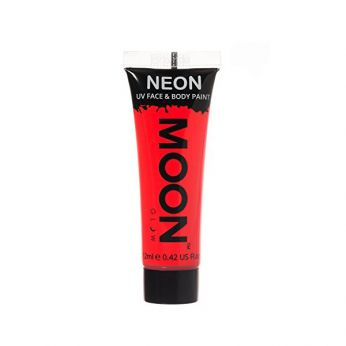 Neon UV Face & Body Paint Rood