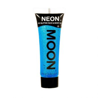 Neon UV Face & Body Glitter Paint Blauw