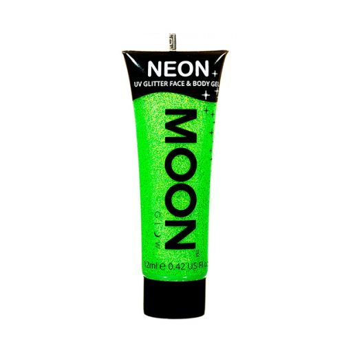 Neon UV Face & Body Glitter Paint Groen