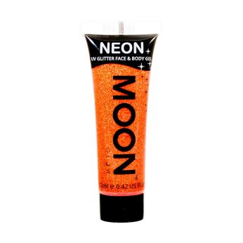 Neon UV Face & Body Glitter Paint Oranje