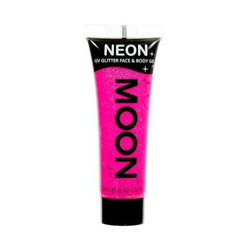 Neon UV Face & Body Glitter Paint Roze