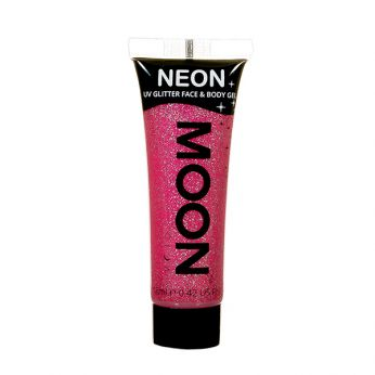Neon UV Face & Body Glitter Paint Rood